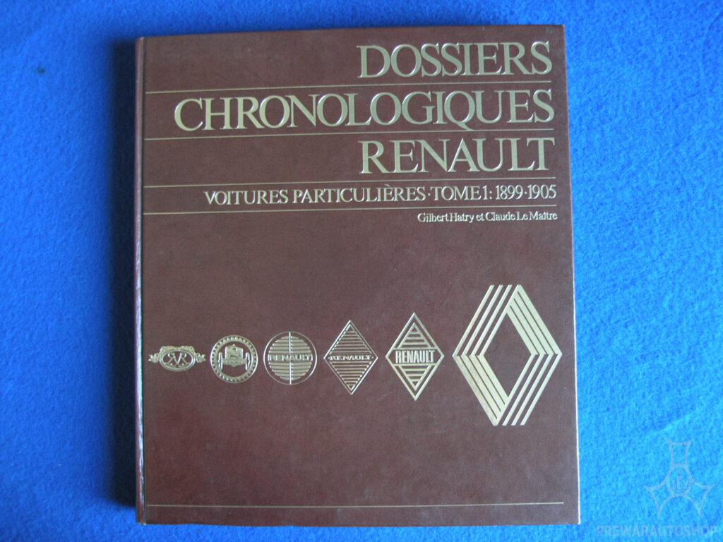 Chronologisches Buch für Renault von 1899 bis 1905