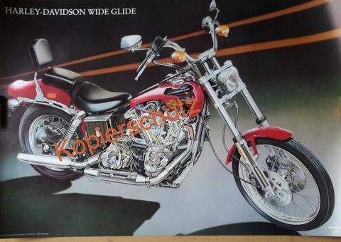 Original Technical Art  Plakat / Poster - Harley Davidson  ---70ziger Jahre BIG BIKE