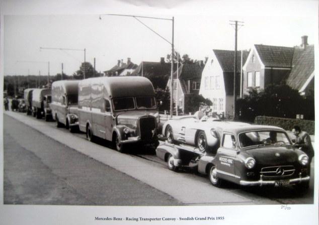 Mercedes-Benz - Racing Transporter Convoy (Das Blauwe Wunder) - Swedish Grand Prix 1955