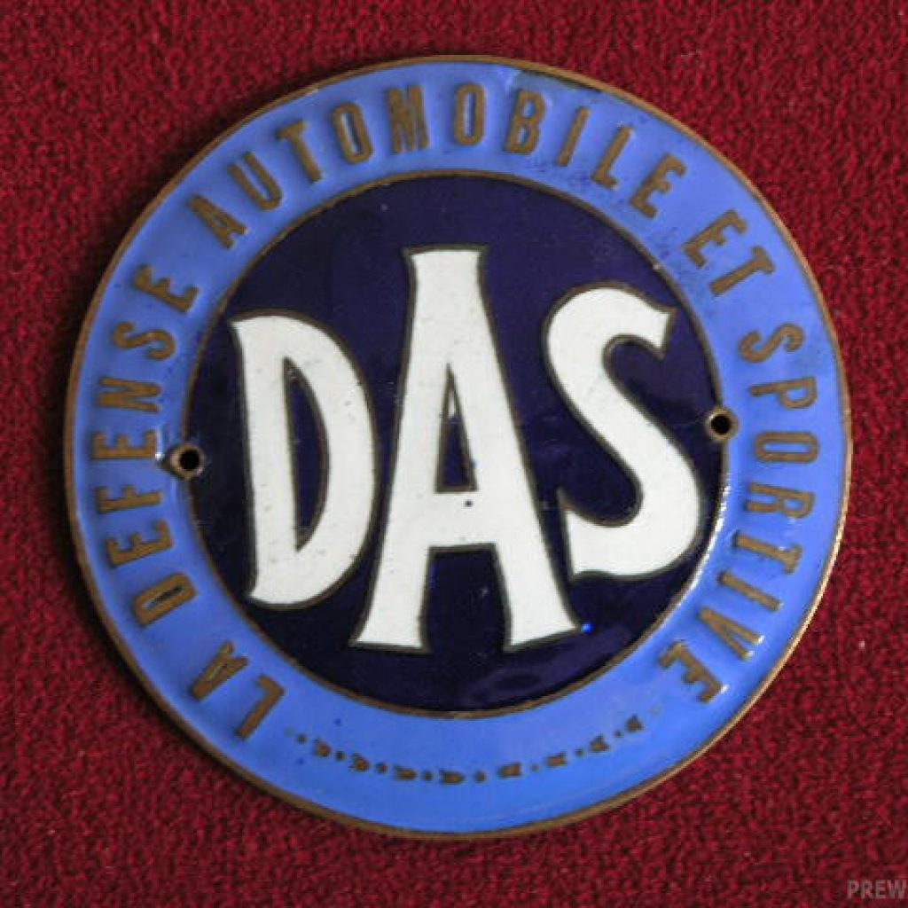 """ DAS "" la Défense Automobile et Sportive Email Badge"