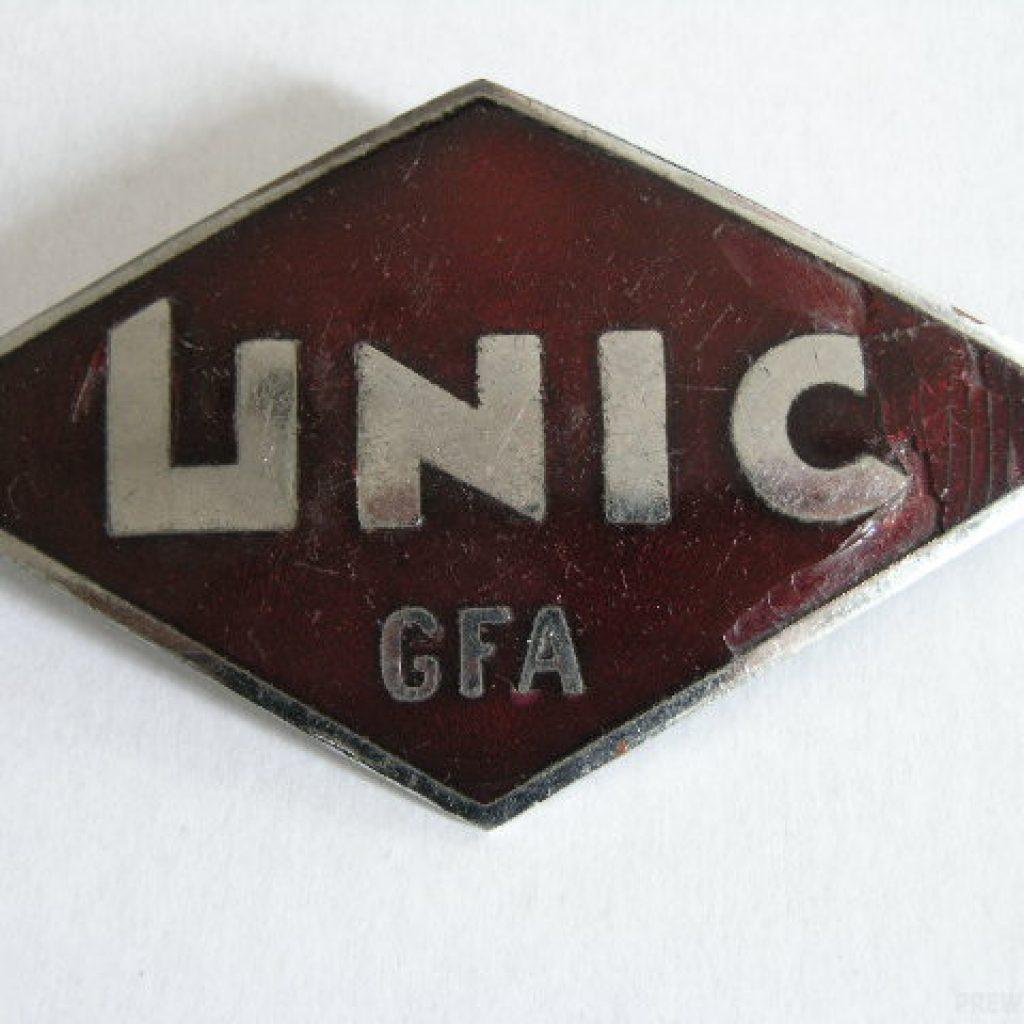 Unic GFA  Kühlerplakette