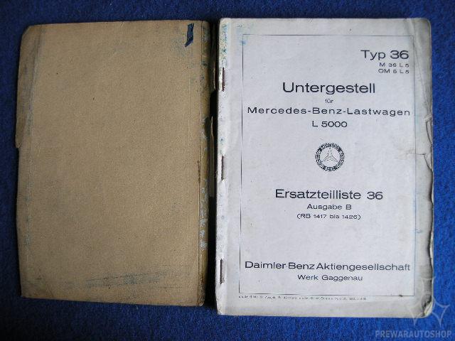 Mercedes - Benz L 5000 LKW  Ersatzteilbuch