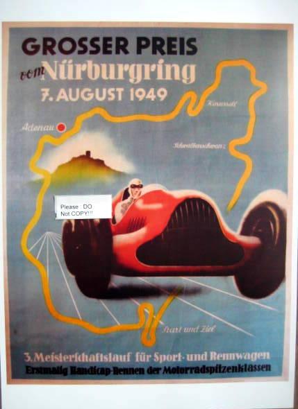 Grosser Preis von Nürburgring 7. August 1949 (Limited 100 Pcs)