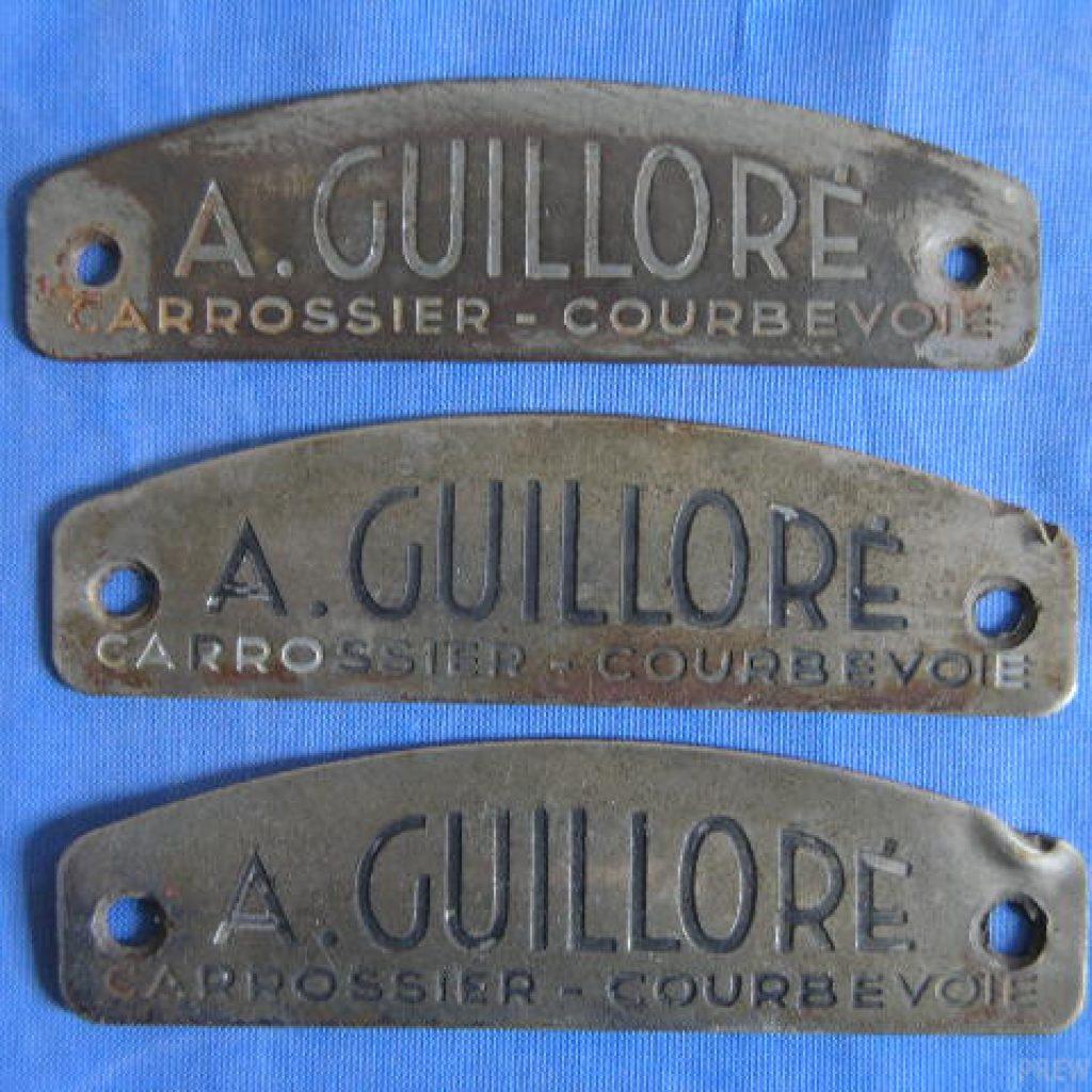 Alphonse Guilloré Karosserielogo für Delage Delahaye Bugatti