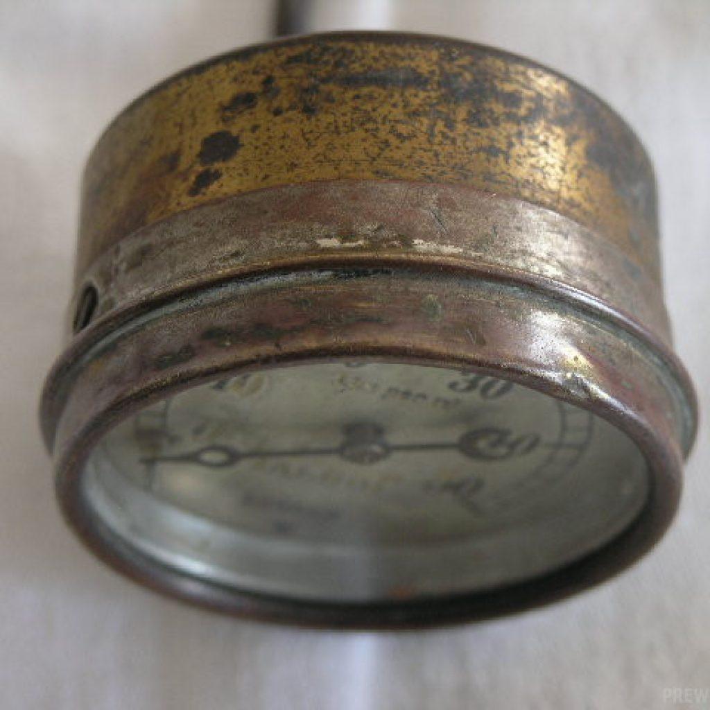 Talbot Messing Öldruckmanometer