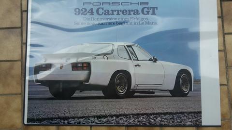 Original Porsche Händler Plakat des 924 Carrera GT