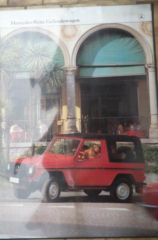 Original Mercedes Benz G- Klasse Händler Plakat / Poster -  1978 -- 118x 85 cm