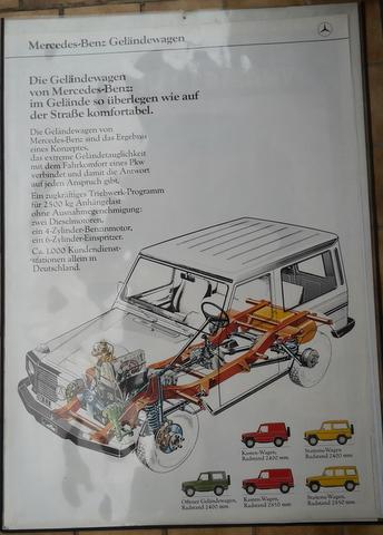 Original Mercedes Benz G- Klasse Händler Plakat / Poster - Anfang 1980  118x 85 cm
