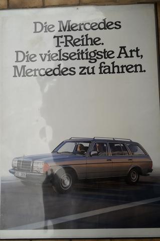 Original Mercedes Benz Kult Kombi Händler Plakat / Poster - Anfang 1980  118x 85 cm