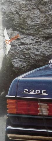 Original Mercedes Benz 230 E  Händler Plakat / Poster - Ende der 70er Jahre 118x 85 cm