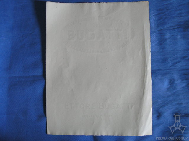 Bugatti Rechnung oder Blankobrief