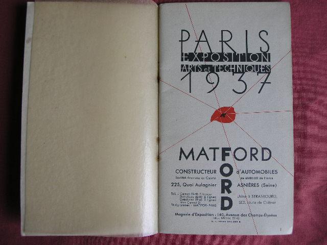 Matford 1937 Handbuch