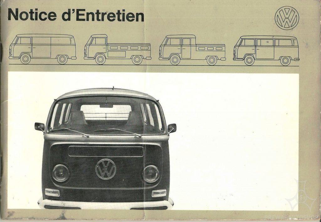 Bedienungsanleitung  für 1970er Volkswagen Bussen