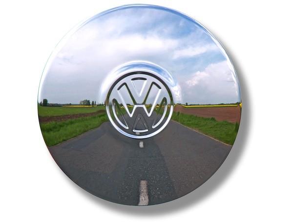 Radkappe VW Käfer Karmann ab 8/67 VW Bus T2 ab 8/70 u. T3 Original chrom