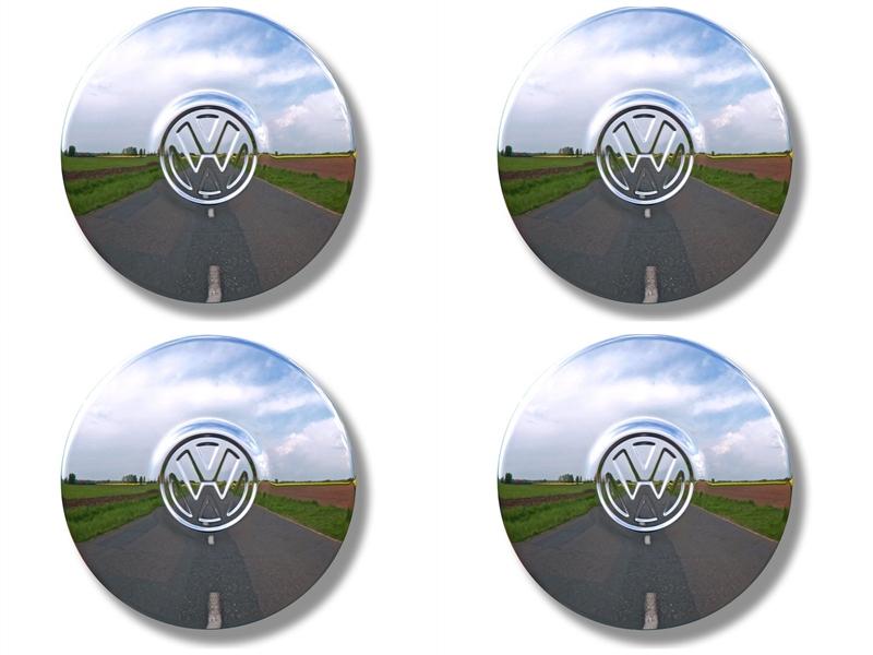Radkappe VW Käfer Karmann ab 8/67 VW Bus T2 ab 8/70 u. T3 Original chrom SET