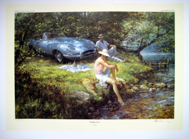 "Fine Art Print - ""Summer of '62 "" - Jaguar E-Type, Series 1"