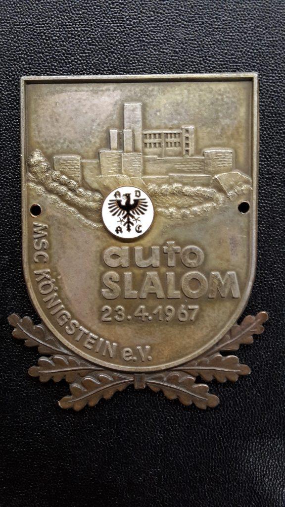 ADAC Plakette Auto Slalom Königstein  1967