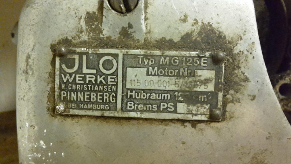 ILO Motor MG 125 E für Kleinschnittger F 125