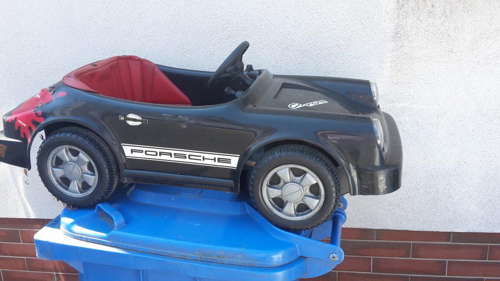 Porsche 911 Kinder Tretauto mit Elektroantrieb ca. 40 Jahre alt