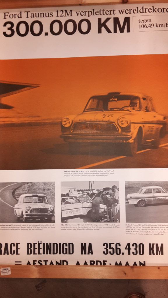 Original Ford Händler Plakat / Poster -  Rekordfahrt P4- 120x 80 cm