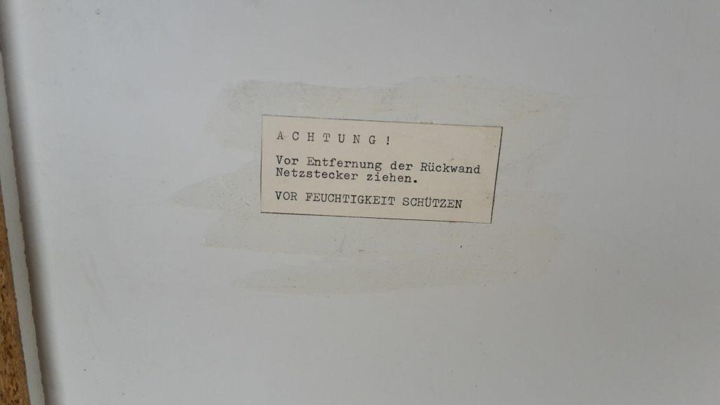 Fahrschul Modell, Lichttechnische Einrichtungen von Fa.Dewo ca. Ende der 60er Jahre