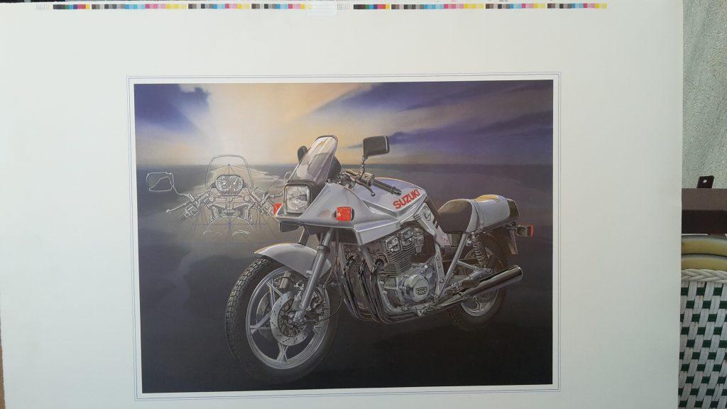 Technical Arts Büttenpapier Kunstdruck   -- Suzuki 1100 Katana Version 2-   Schnittzeichnung