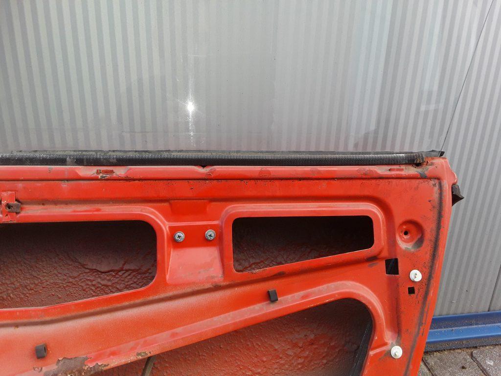 Tür vorne rechts für VW Porsche 914 mit Türscheibe und Fensterheber Einbauteile