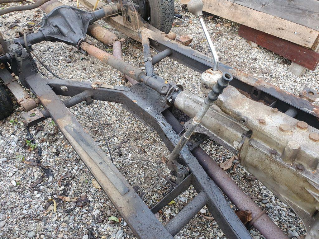 Triumph TR2 TR3 komplettes rolling chassis, guter Zustand, keine Durchrostung, kein Unfall