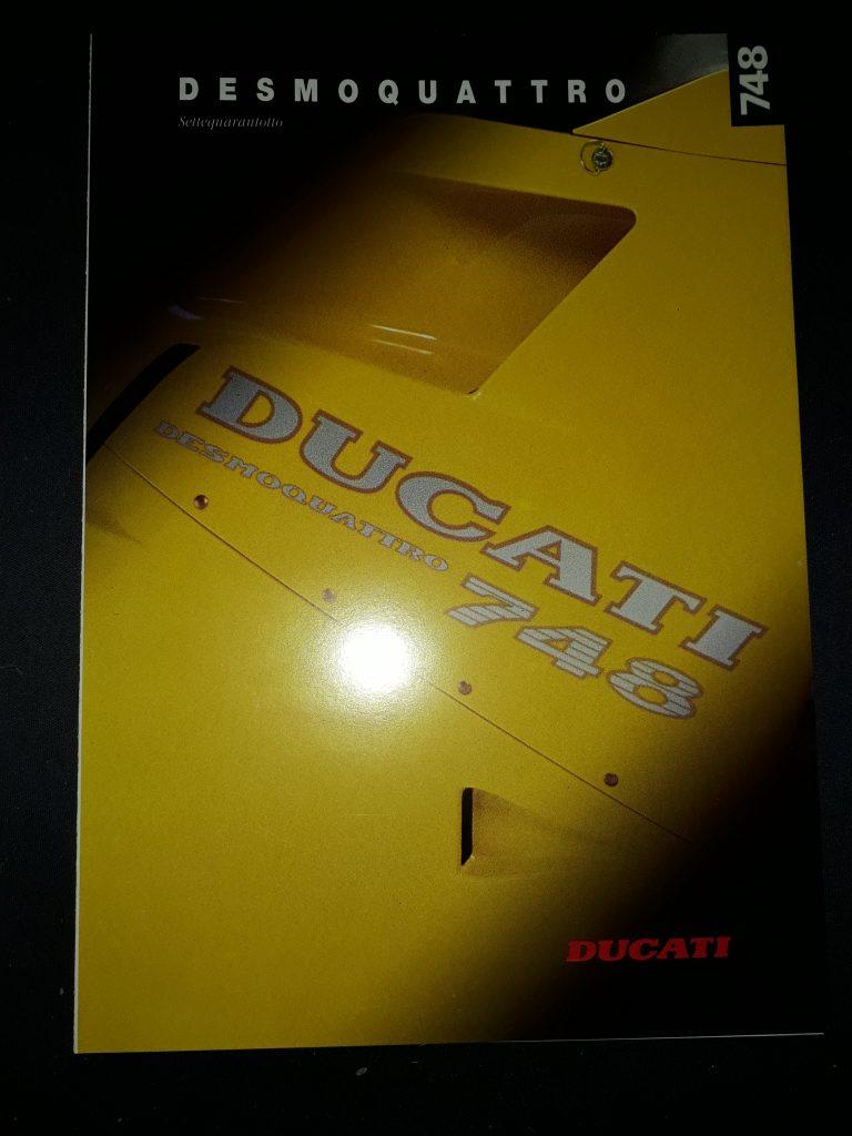 Motorrad Prospekt Ducati Desmoquattro 748