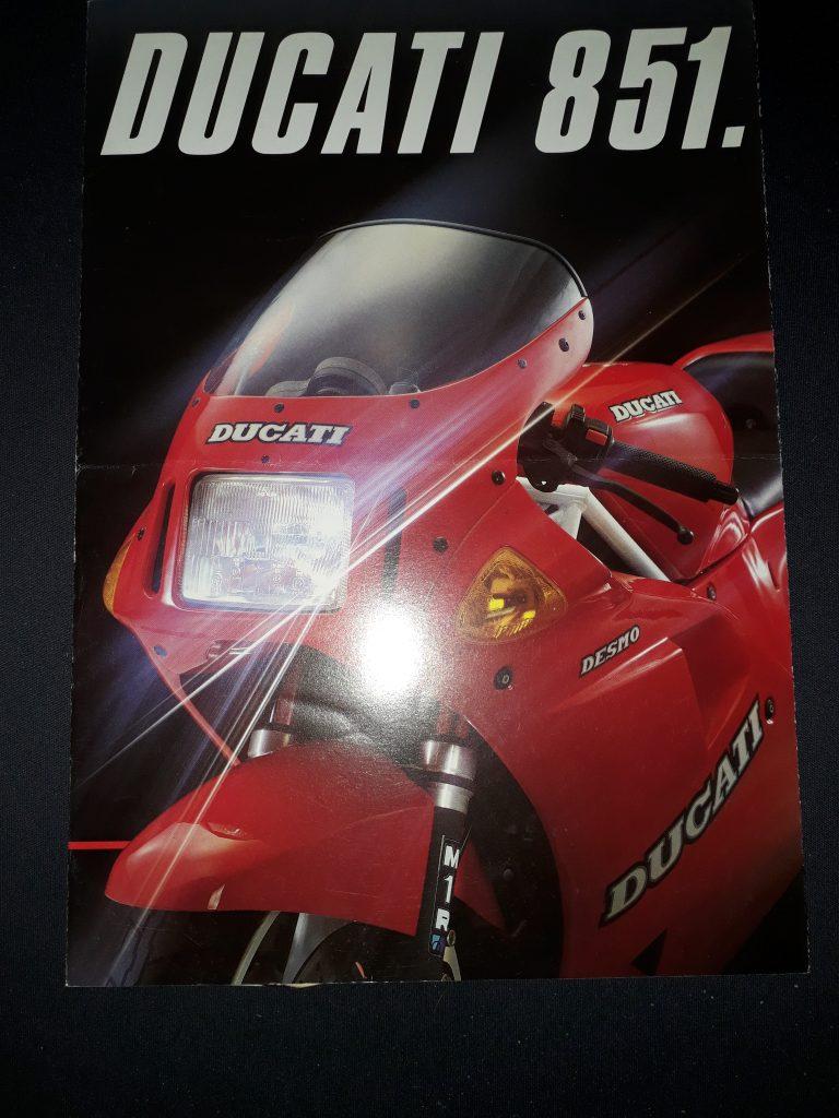 Motorrad Prospekt Ducati 851