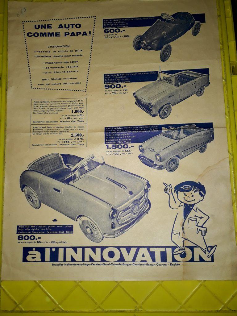 Original  Tretauto -Pedal car- Plakat / Poster Format ca.48x38cm
