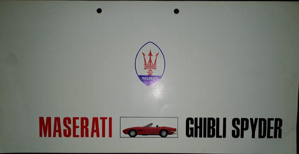 Original Verkaufsprospekt Maserati Ghibly Spyder