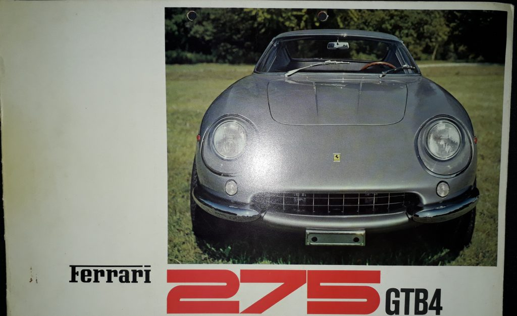 Original Verkaufsprospekt Ferrari 275 GTB 4