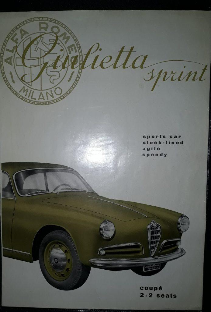 Original Verkaufsprospekt Alfa Romeo  Giulietta Sprint Coupe