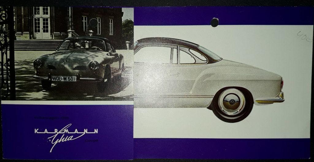 Original Verkaufsprospekt VW Karmann Ghia