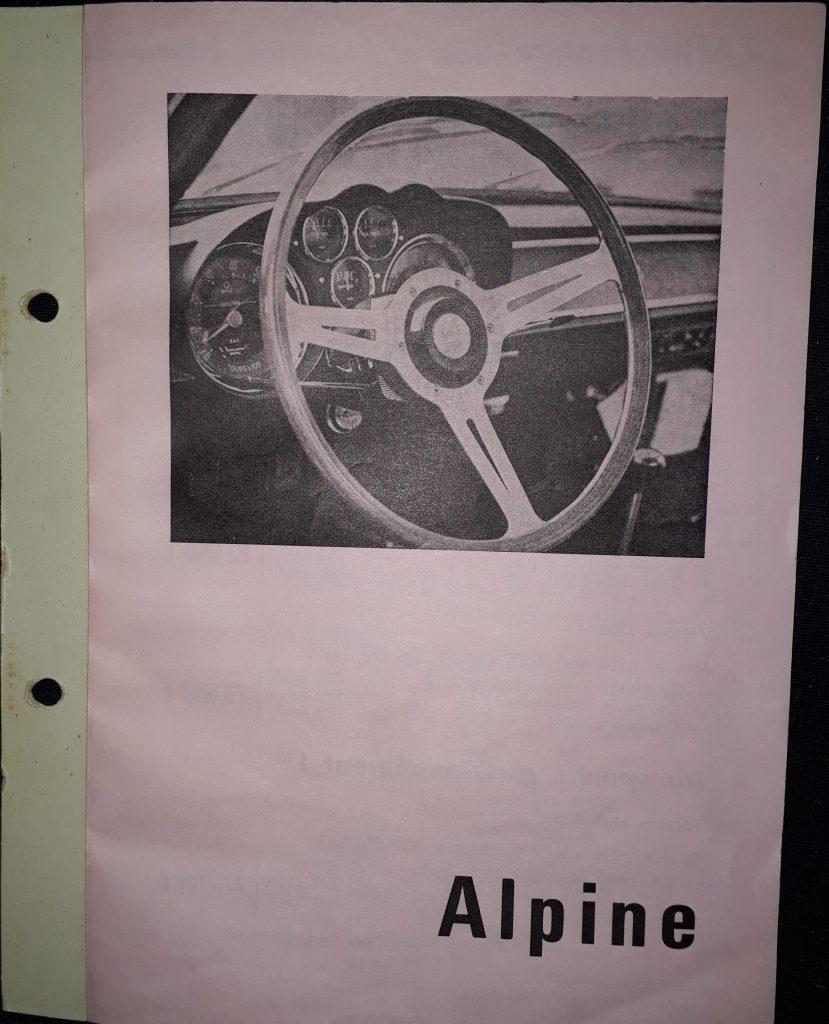 Original Verkaufsprospekt  Renault Alpine  A110