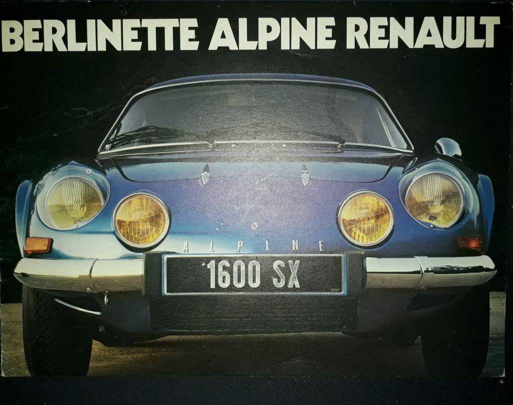 Original Verkaufsprospekt  Katalog Renault Alpine 110