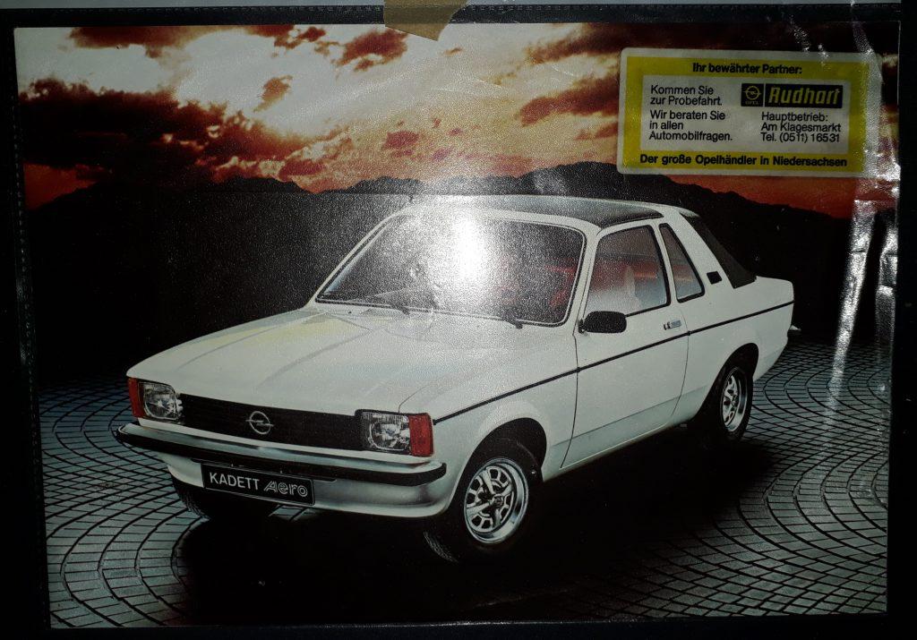 Original Verkaufsprospekt Opel Kadett C Aero