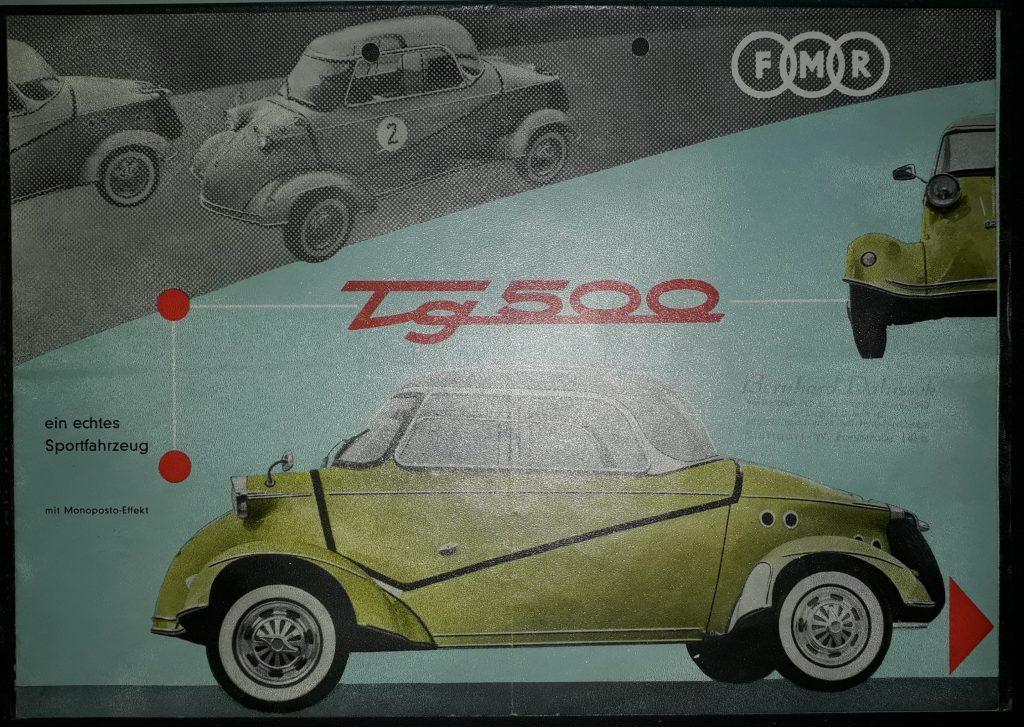 Original Verkaufsprospekt Messerschmitt FMR Tiger
