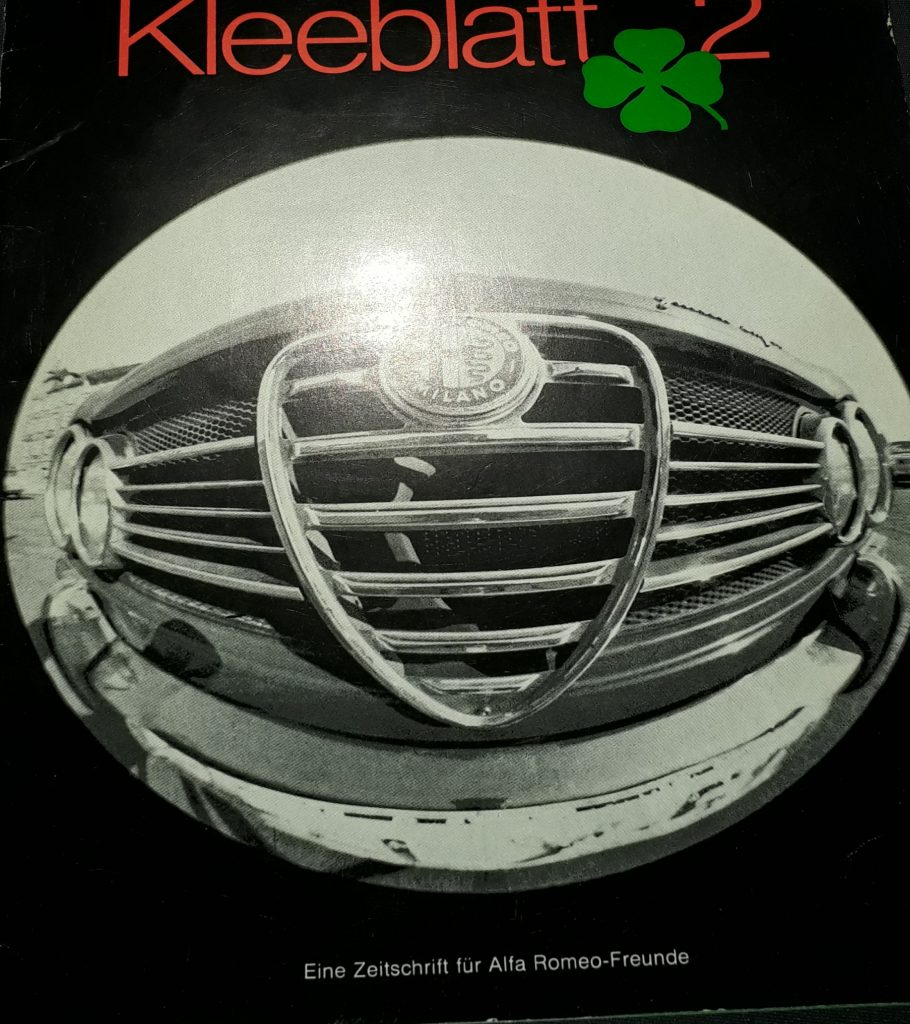 Werkszeitschrift Alfa Romeo Kleeblatt März 1969