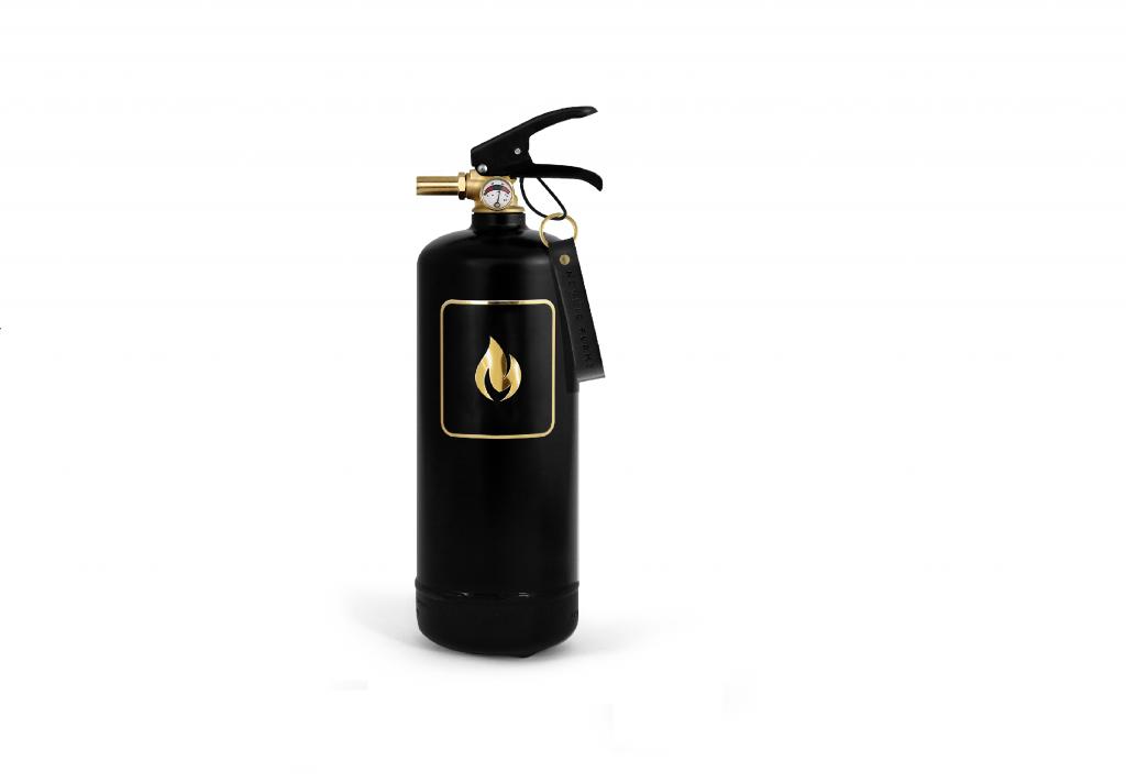 Feuerlöscher Design-Feuerlöscher 2kg schwarz-gold fire extinguisher