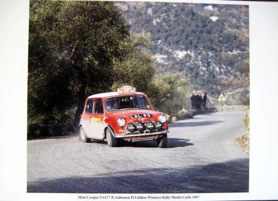 Mini Cooper S #177 R.Aaltonen/H.Liddon Winners Rally Monte Carlo 1967
