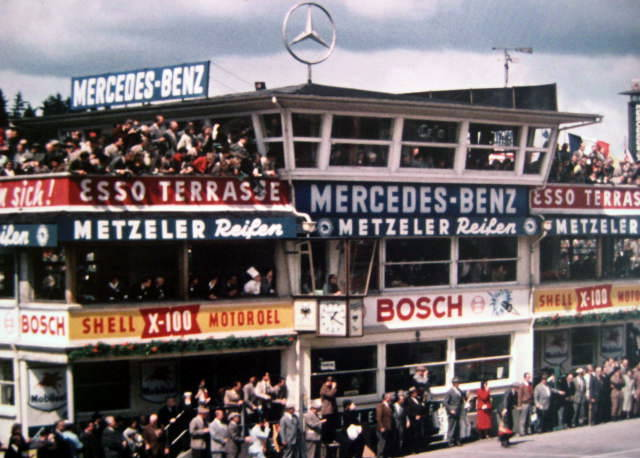 Start German Grand Prix Nurburgring 1956 - Ferrari #1 Juan Manuel Fangio (Winner)