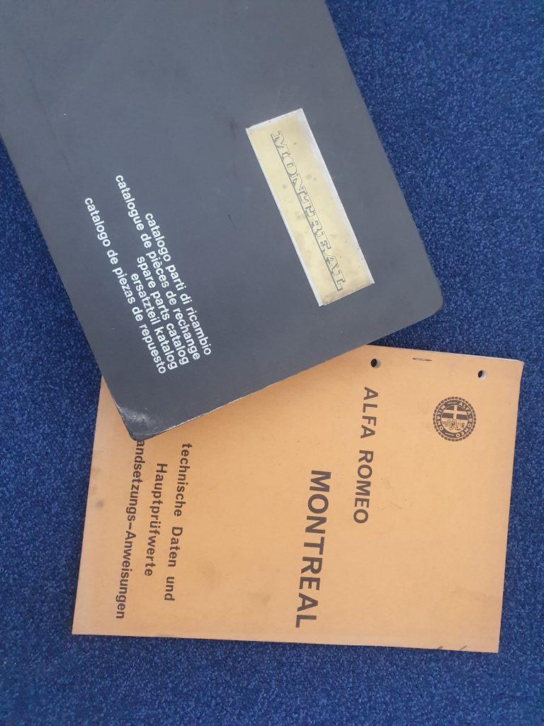 Alfa Romeo Montreal original Werkstatthandbuch (deutsch) und original Ersatzteilkatalog (mehrsprachig inkl. deutsch)