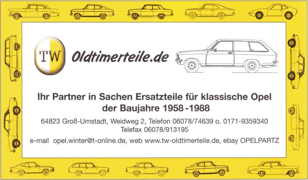 Frontbleche Rekord C/Commodore A, Kadett B OHV+CIH, Kadett C bis und ab Fgstnr.