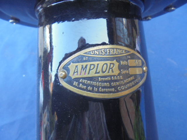 Horn, Amplor 12v, pre-war, new old stock
