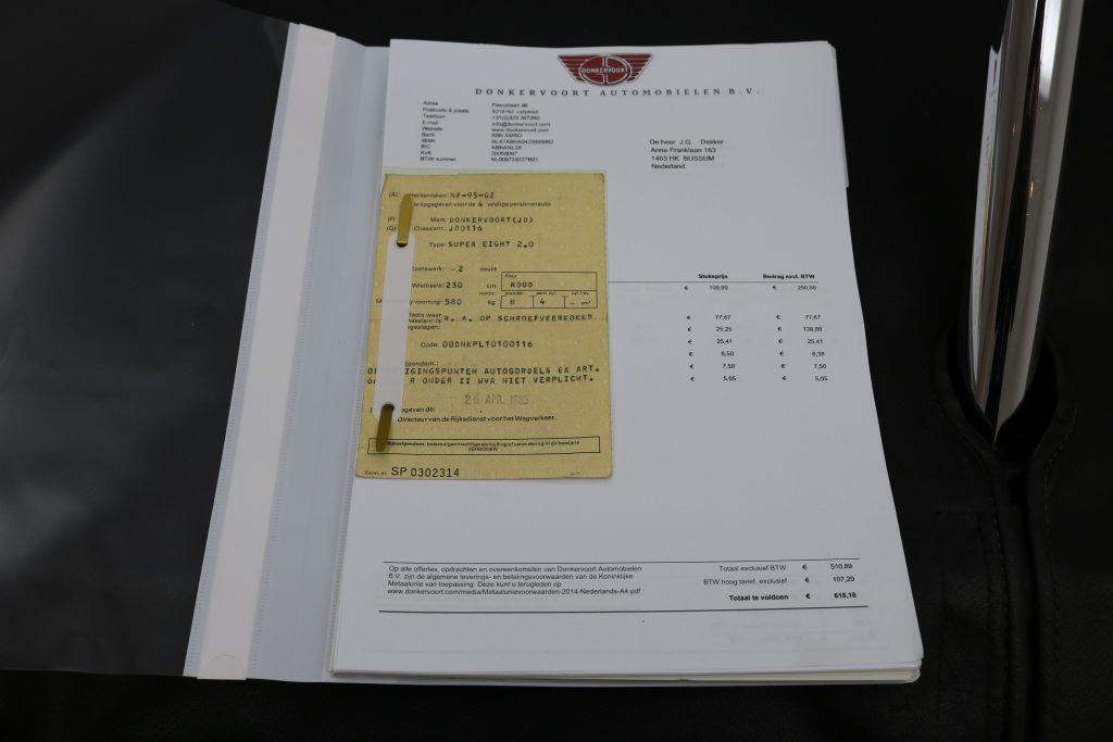 Donkervoort S8 2.0 * Scheckheft * No. 116 *