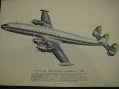 Aeroplane paper pictures from 1969, Pictures get by tankstations ! 9 different pictures