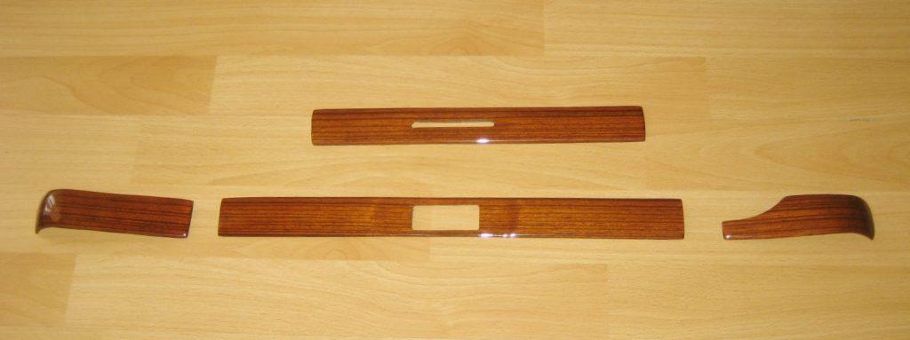 Mercedes W123er Zebrano Holzleisten für Armarutenbrett Neu 4 tlg