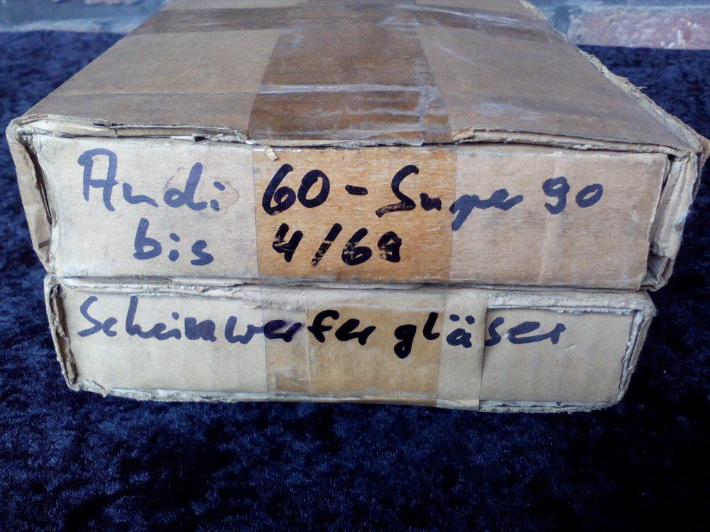 Scheinwerfergläser für Audi 60 bis Super 90 F103 Hella NOS